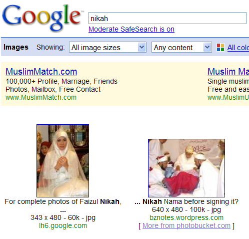 Google Search Results for nikah