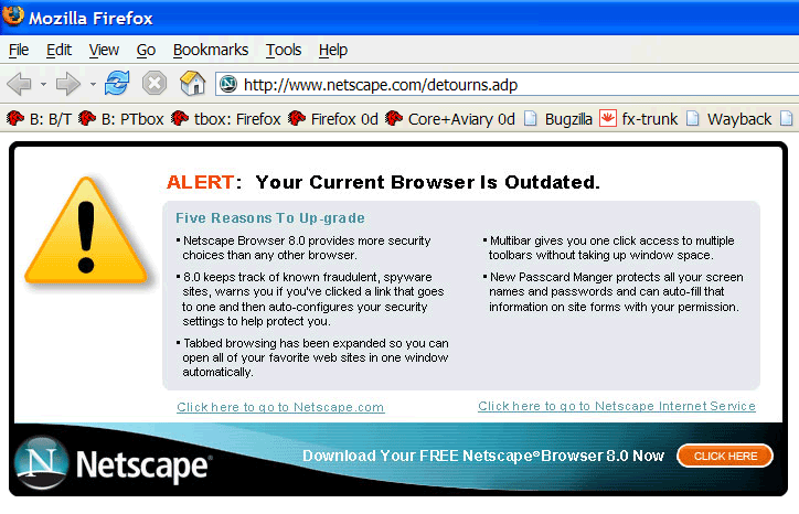 ALERT: Your Current Browser Is Outdated.